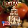 Weihnachtspyramiden & Weihnachten Pyramiden · 120 Volt USA Stromnetz