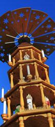 Die Weihnachtspyramide in Fredericksburg